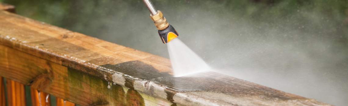 Specially trained in deck cleaning and deck staining.